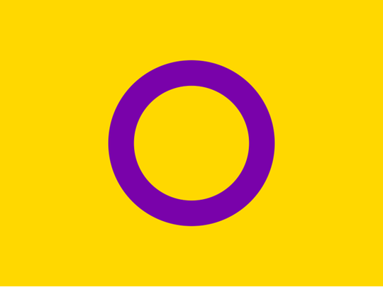 A flag denoting the intersex community.