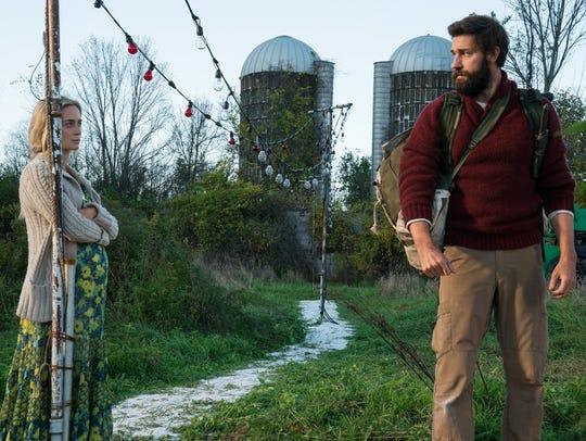 Emily Blunt and John Krasinski play husband and wife