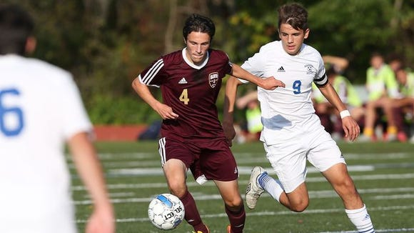 Arlington defeated Mahopac in a boys soccer game at