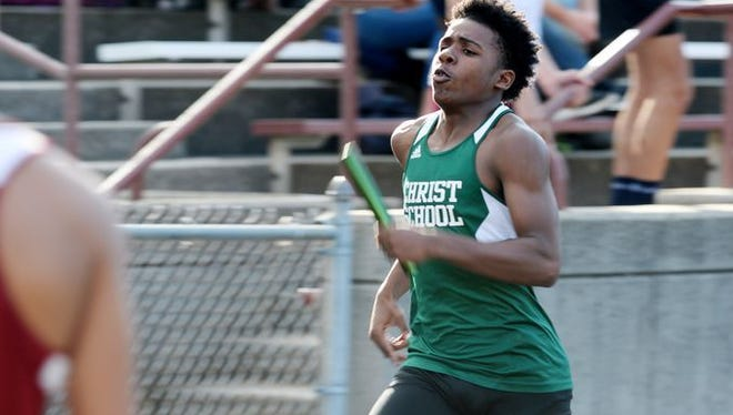 Christ School was the first-place boys team at Wednesday's Buncombe County track meet.