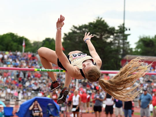 Noblesville's Shelby Tyler competed in the high jump