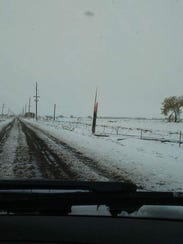 Power poles were snapped by the weight of snow and