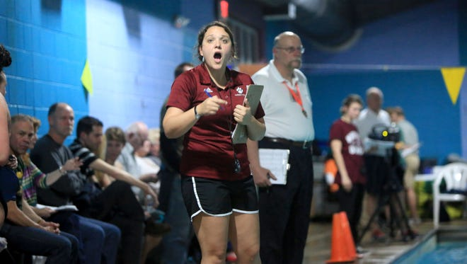 Asheville High swimming coach Christine McGee.