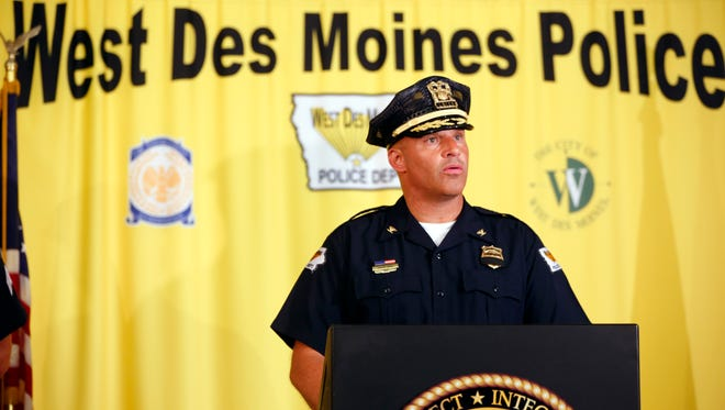 Chief Shaun LaDue with the West Des Moines police.