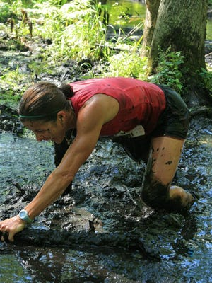 Dances With Dirt isn't an obstacle run, but there are parts of the course where racers must navigate through streams and swamps.