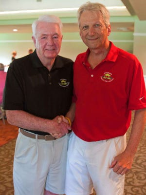 Former Westwood Mayor Skip Kelley, left, started the charity golf outing 20 years ago. He's pictured with fellow organizer, Westwood Councilman Peter Grefrath.
