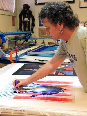 Rick Allen, drummer for Def Leppard, is also an artist. He will appear at The Mall at Short Hills on Saturday, Feb. 20.