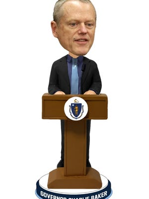 The National Bobblehead Hall of Fame and Museum unveiled the first bobblehead of Gov. Charlie Baker.