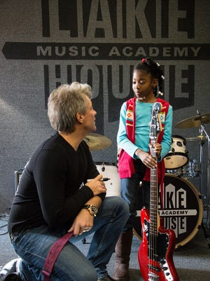 Jon Bon Jovi speaks with 10-year old bassist Zakaya Kennedy of Asbury Park.