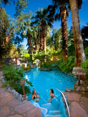 Two Bunch Palm Spa and Resort's hot mineral springs grotto.