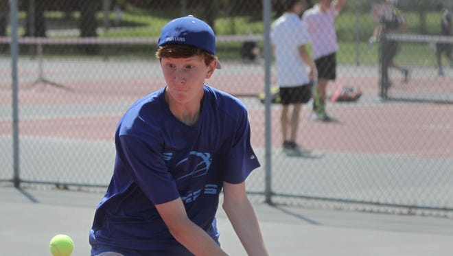 St. Peter's junior Luke Henrich won a Division II singles sectional championship last spring.
