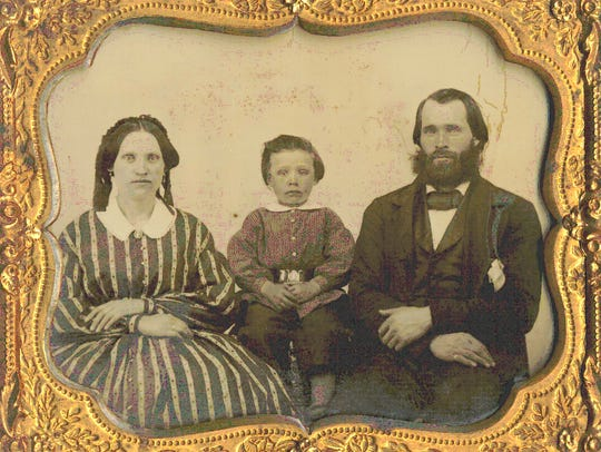 Thomas and Hanora Sweeney McAuliffe, gold prospectors.