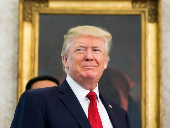 President Donald Trump at the White House in Washington,