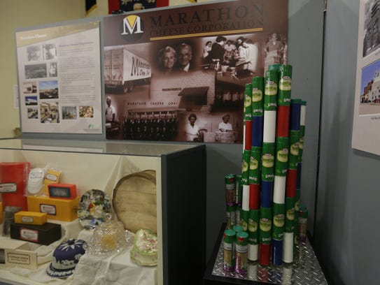 The Marathon Cheese Corp. display Friday is among the