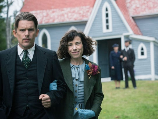 Ethan Hawke (left) and Sally Hawkins in a scene from