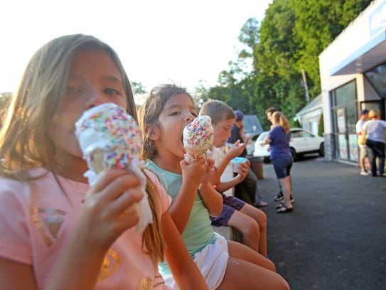 Isabella Cangellosi, 6, and her sister, Penny ,4, enjoys