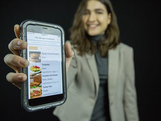 Jenna McClellan, a junior at Centennial High School, said in the process of creating the app, The Allergen Cookbook, shelearned a lot about food allergies.