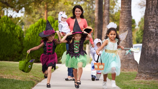 Trick Or Treating At Halloween