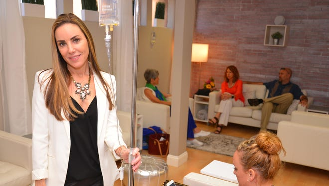 Lorin Carpenter is owner of Radiantly Healthy Vitamin Infusion Drip Lounge on 5th Ave. in Indialantic.