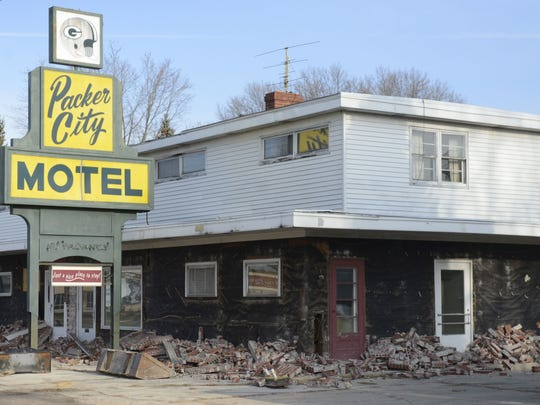 Packer City Motel, 1957 Main St., Green Bay, opened in the mid-1950s but is now being razed.