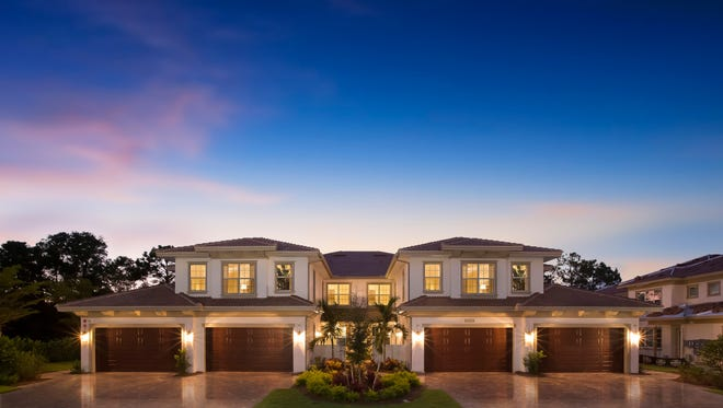 Coach homes are available in Signature Club and Tasori (shown) at Lely Resort.
