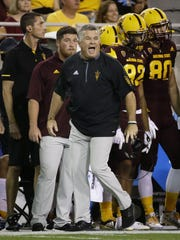Todd Graham reacts in ASU's loss to USC on Saturday.