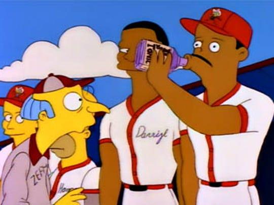 "Ken Griffey Jr. in ""Homer at the Bat."""