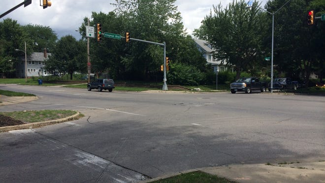 A runner was struck at this intersection Monday morning.