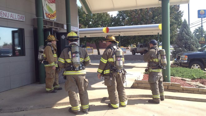 Mountain Home firefighters respond to a grill fire and Sonic Drive-In in Mountain Home.