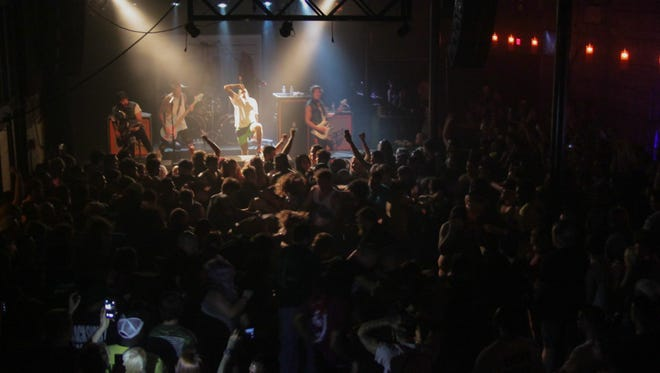 Attila performs at Vinyl Music Hall Wednesday night.