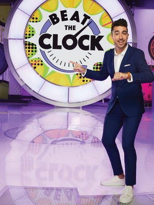 "Hillsdale native Paul Costabile hosts the Universal  Kids' game show ""Beat the Clock."""