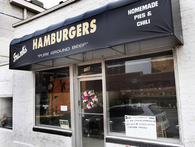 Frank's Hamburgers on North Second Street closed in