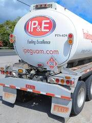 In this file photo, an IP&E tanker trucker delivers