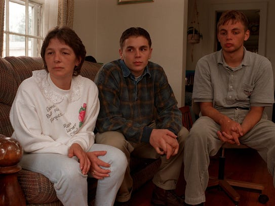 Rose Larner's mother, Rose Markey, left, and brothers