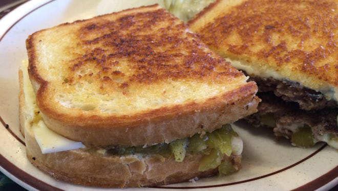 The Cowboy's Super Patty Melt Hamburger at the Market Grill in Cedar City mixes up the traditional patty melt recipe by adding green chilis and sourdough instead of rye.