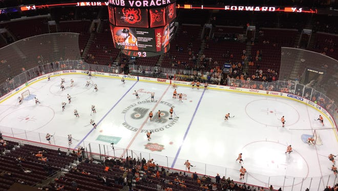 Here's what the Flyers listen to when they take the ice for warmups.