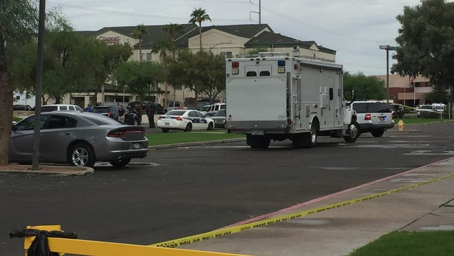 Phoenix police were in a standoff Oct. 31, 2017, with an armed man who barricaded himself in a Comfort Suites hotel near Interstate 17 and Peoria Avenue.