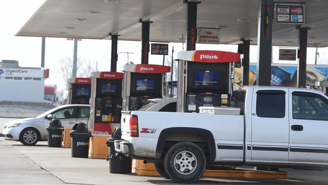 Customers stop at the Pilot Travel Center at the Strawberry Plains exit off Interstate 40 Wednesday, Dec. 21, 2016.