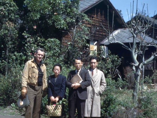 Dr. Austin with the Japanese aristocrats he met in Japan.