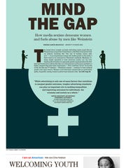 """MInd the Gap.""  Sunday Forum cover designed by Jennifer"