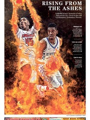 """Rising from the ashes."" Courier Journal sports cover"