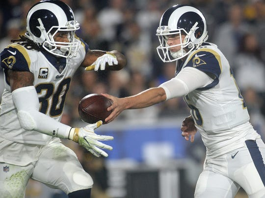 Todd Gurley, left, and Jared Goff will lead a Rams offense that figures to be one of the best in the NFC and maybe in the NFL.