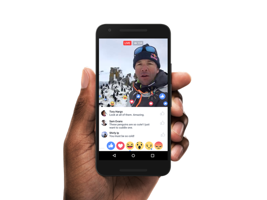 Facebook Live viewers will be able to express their