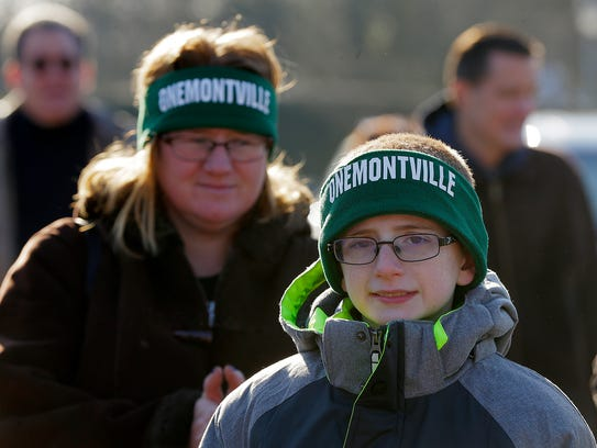 Daniel Goldstein, 13, of Montville and his mother,