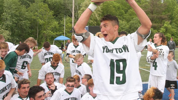 Yorktown defeated John Jay 14-6 to win the Section
