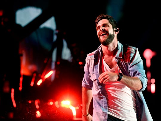 Thomas Rhett performs during the CMA Music Festival.
