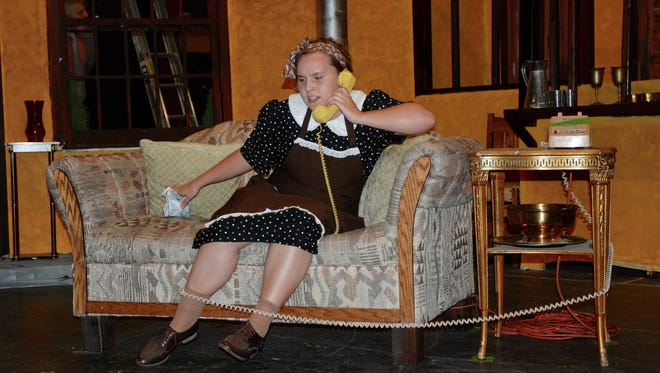 """Heather Hosford in the play """"Noises Off,"""" opening at the Las Cruces Community Theatre, 313 N. Main St., on Friday."""