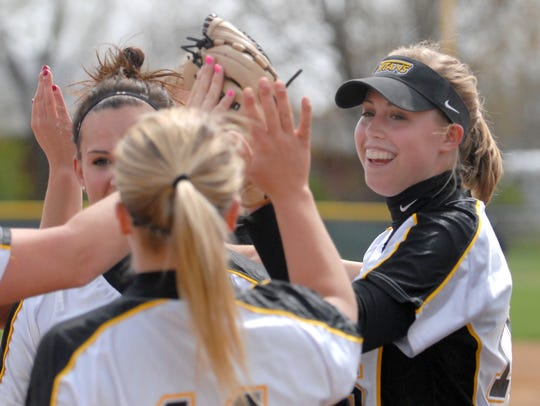 Courtney Wautier was a UW-Oshkosh pitcher after graduating
