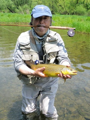 Here's a beautiful brown trout taken by the author's friend Henry in the Catskills.