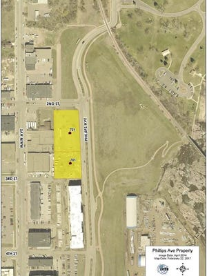 City Hall is soliciting redevelopment proposals for two parcels of property it owns along north Phillips Avenue.